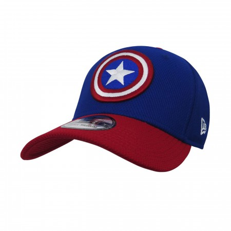 Captain America Red Blue 39Thirty Baseball Cap