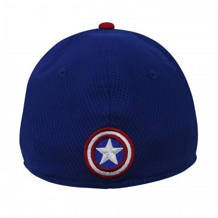 Captain America Red Blue 39Thirty Baseball Cap
