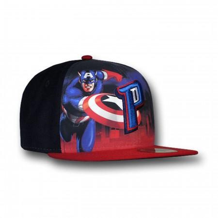 Captain America Detroit Pistons 59Fifty Flat Billed Cap