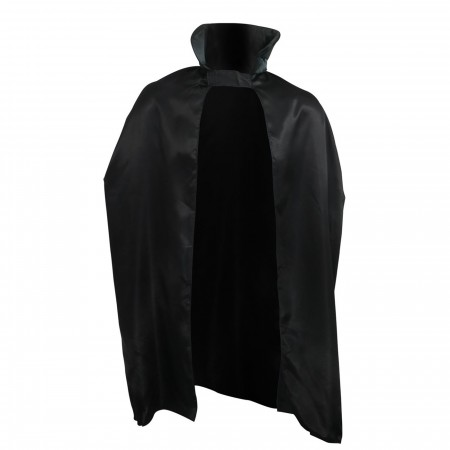 Adult Costume Black Satin 45-Inch Cape