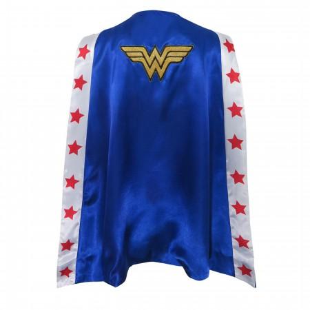 Wonder Woman Stars Satin Costume Cape