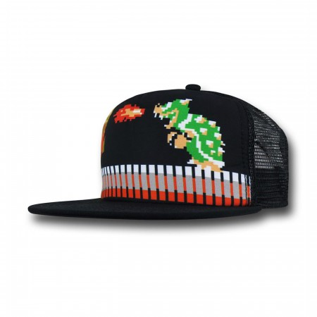 Mario Vs Bowser Trucker Hat