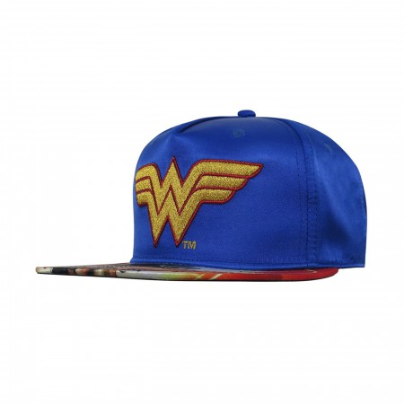 Wonder Woman Sublimated Bill Snapback Hat