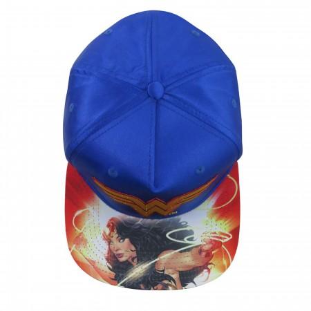 Wonder Woman Sublimated Bill Snapback Hat