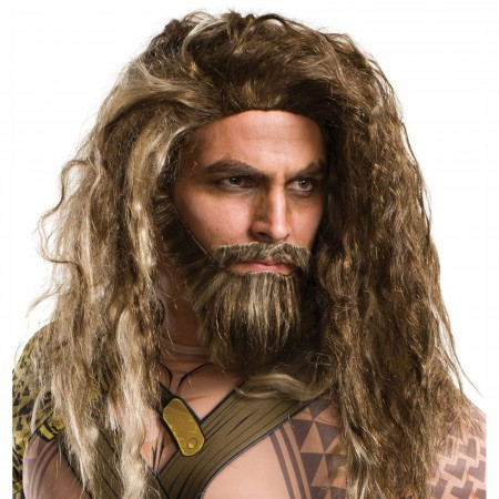 Aquaman Hair and Beard Wig Set