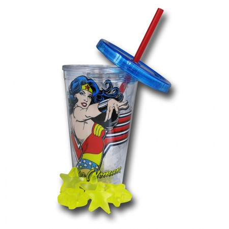 Wonder Woman 16oz Cold Cup with Reusable Ice Cubes
