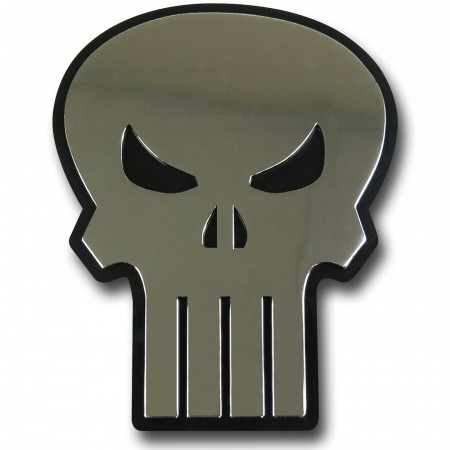 Punisher Chrome Symbol Adhesive Car Emblem