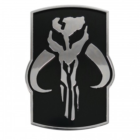Star Wars Mandalorian Crest Chrome Car Emblem