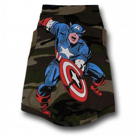 Captain America Dog Tank Top