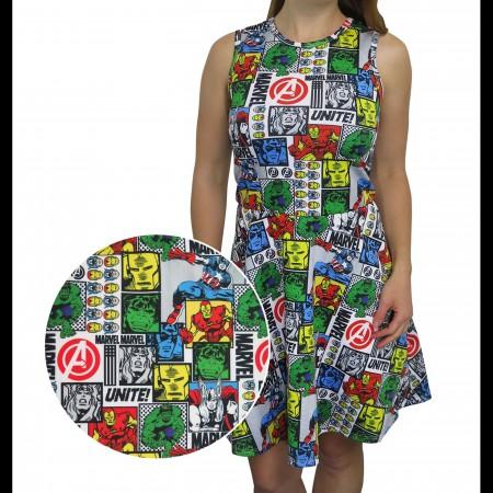 The Avengers Comic Pop Women's Tank Dress