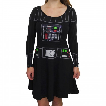Star Wars Darth Vader Long Sleeve Women's Skater Dress