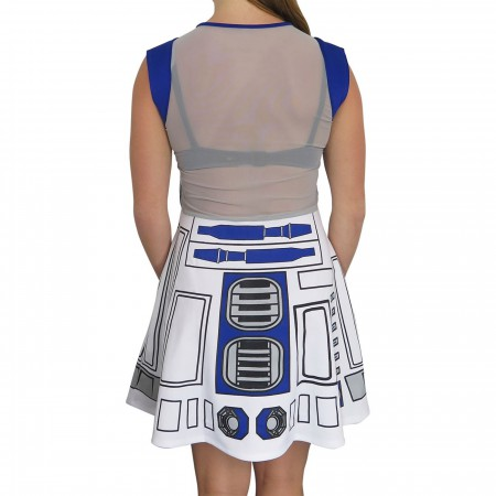 Star Wars R2-D2 Women's Meshback Skater Dress