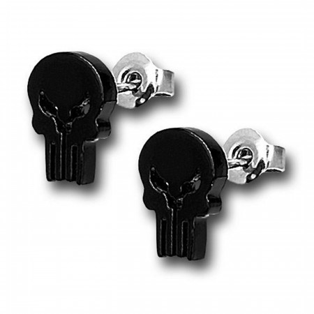 Punisher Skull 316L Surgical Steel 18G Stud Earrings