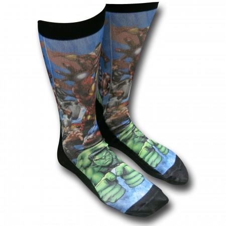 Marvel Hero Group Sublimated Socks