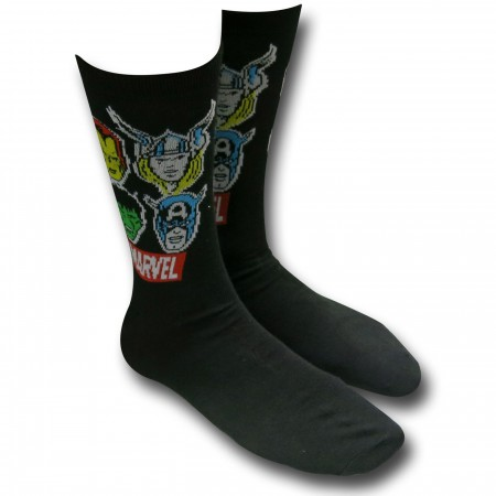 Marvel Heads Crew Sock 2-Pair Pack