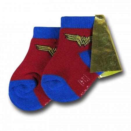 Wonder Woman Caped Infant Socks