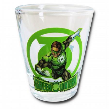 Green Lantern in Action Mini Glass