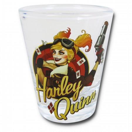 Harley Quinn Bombshell Mini Glass