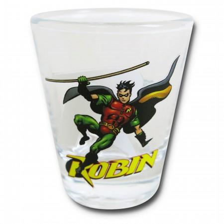 Robin in Action Mini Glass