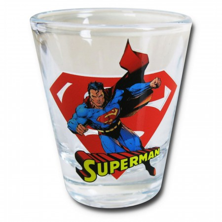 Superman in Action Mini Glass