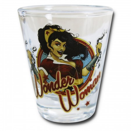 Wonder Woman Bombshell Mini Glass