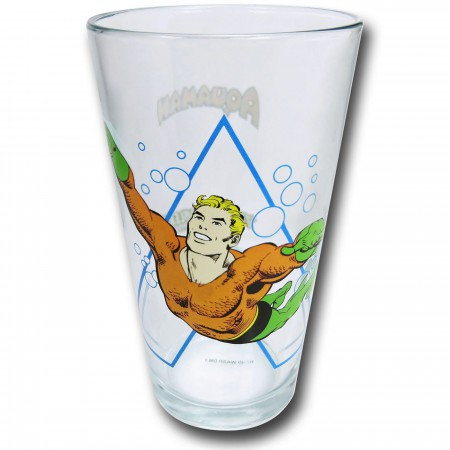 Aquaman and Symbol Clear Pint Glass