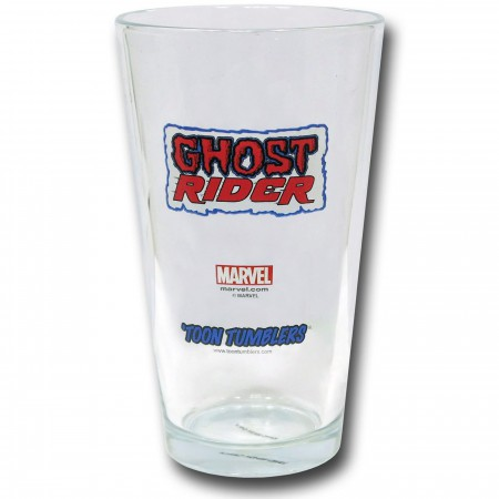 Ghost Rider Demon Cycle Clear Pint Glass