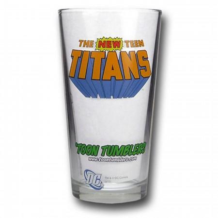 Teen Titans Pint Glass