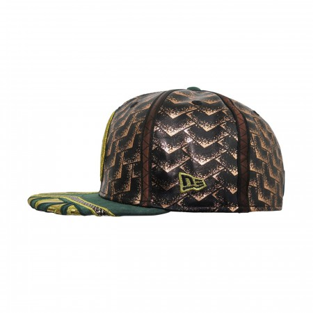 Aquaman Justice League Armor 59Fifty Fitted Hat