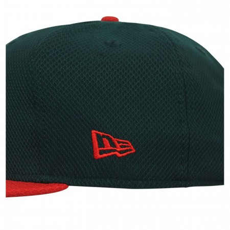 Aquaman Symbol Green 59Fifty Fitted Hat