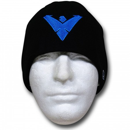 Nightwing Symbol Black New Era Beanie