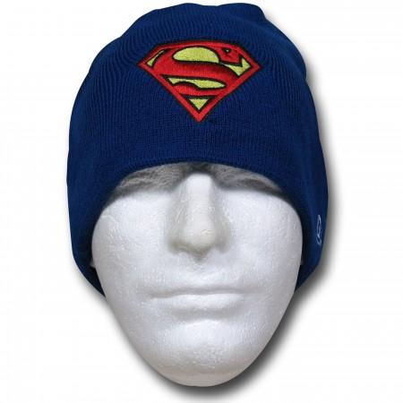 Superman Symbol Royal Blue New Era Beanie