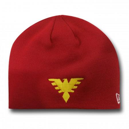 X-Men Dark Phoenix Symbol Red Beanie