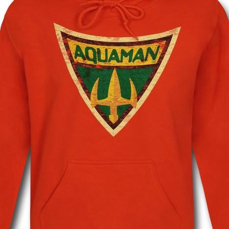 Aquaman Brave & Bold Symbol Pullover Hoodie