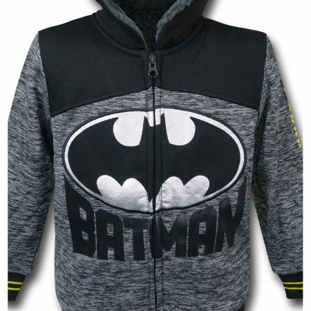 Batman Symbol Kids Sherpa Hoodie