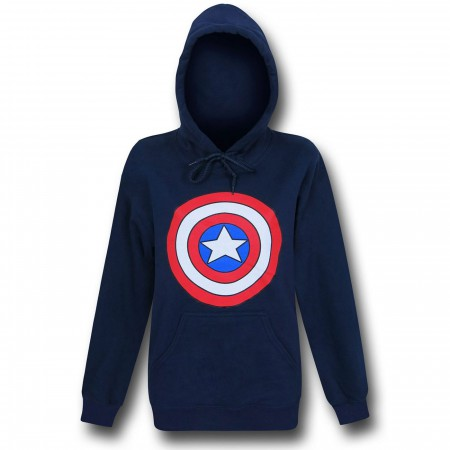 Captain America Shield Women's Navy Hoodie