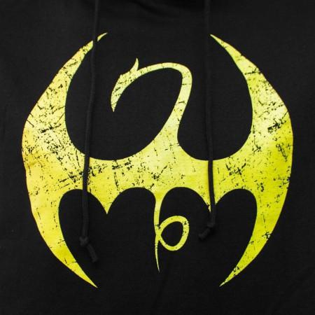 Iron Fist Distressed Symbol Men's Hoodie