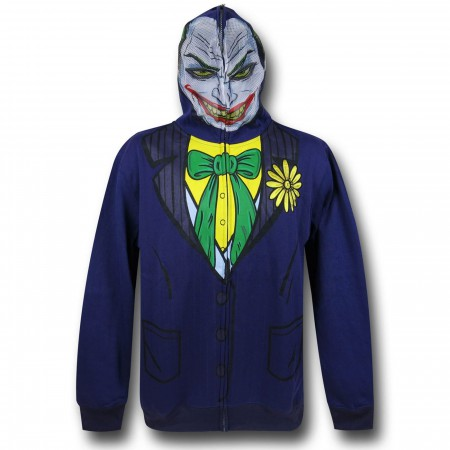 Joker Face Costume Zip-Up Hoodie