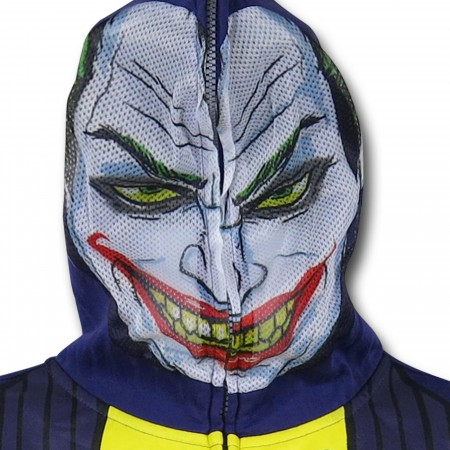 Joker Face Costume Zip-Up Hoodie