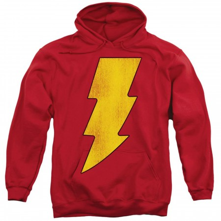 Shazam Symbol Red Pullover Hoodie