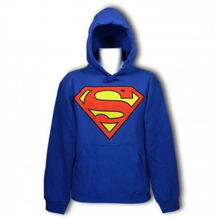 Superman Symbol Royal Hooded Sweatshirt