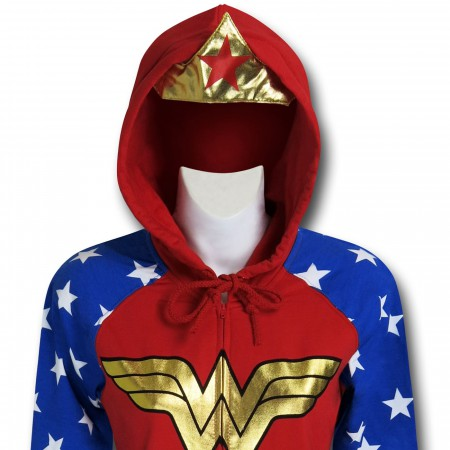Wonder Woman Crown & Hood Women's Hoodie