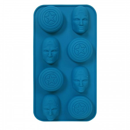 Captain America Shield and Faces Ice Cube Tray