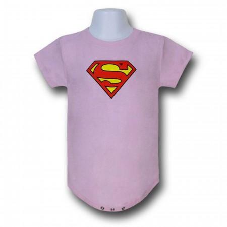 Superman Infant Pink Snapsuit