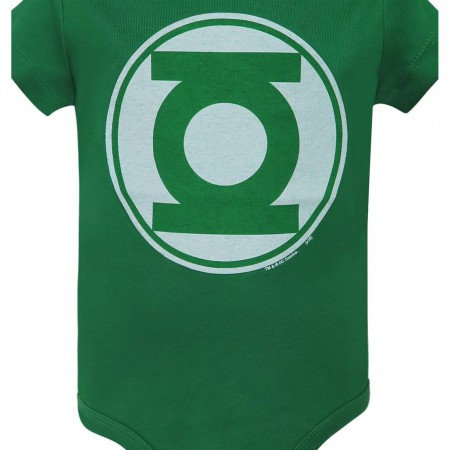 Green Lantern Modern Symbol Infant Snapuit