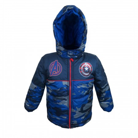 Captain America Shield Kids Puffer Jacket