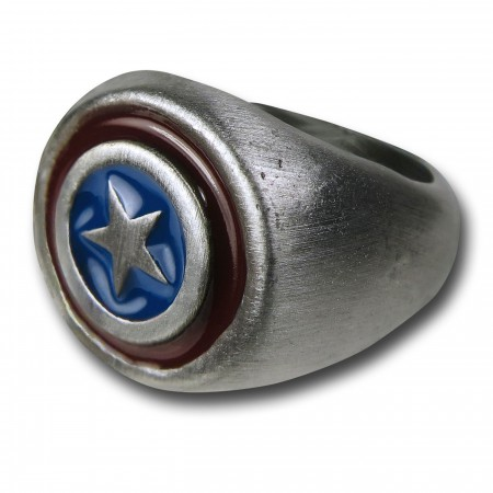 Captain America Brushed Nickel Ring