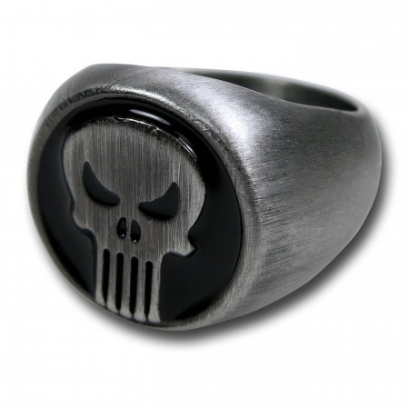 Punisher Brushed Nickel Ring