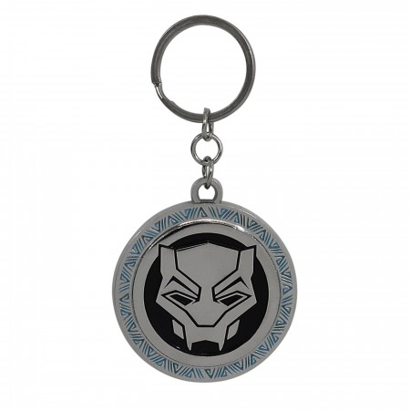 Black Panther Movie Symbol Metal Keychain