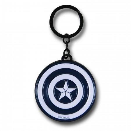 Captain America Civil War Silver Shield Keychain
